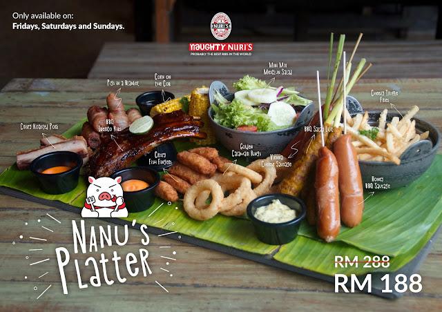 Nanu's Platter @ Naughty Nuri's Malaysia