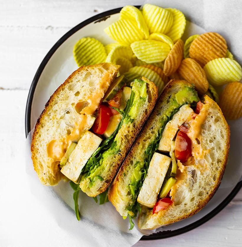 Sunny Day Tofu Sandwich