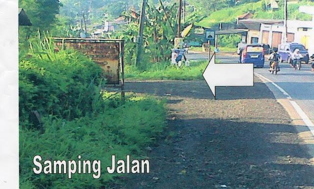 lokasi tanah dekat jalan raya sukabumi