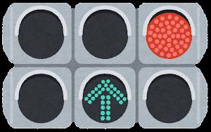 矢印式信号機のイラスト(直進)