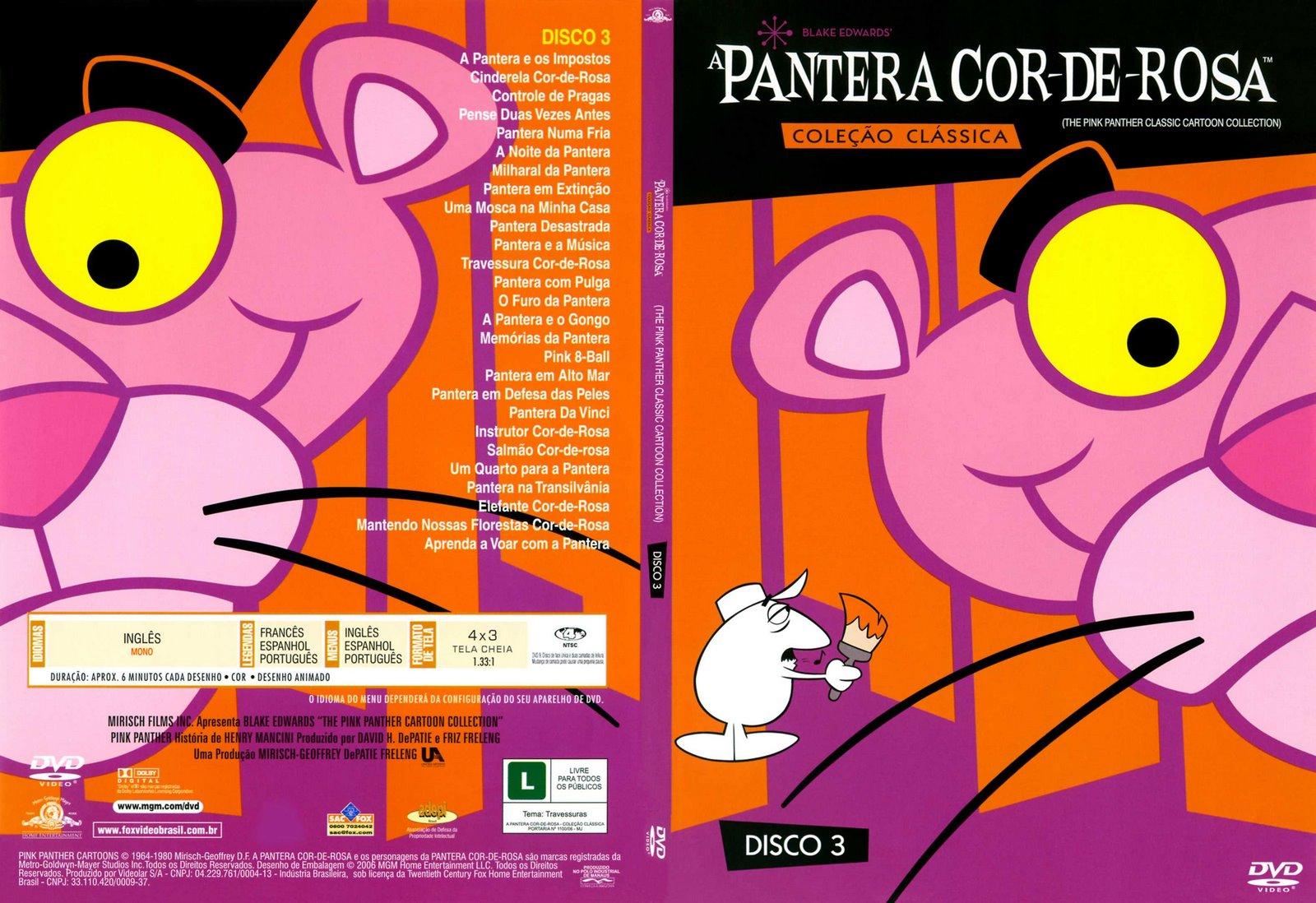 Capas Filmes Animacao A Pantera Cor De Rosa Disco 3
