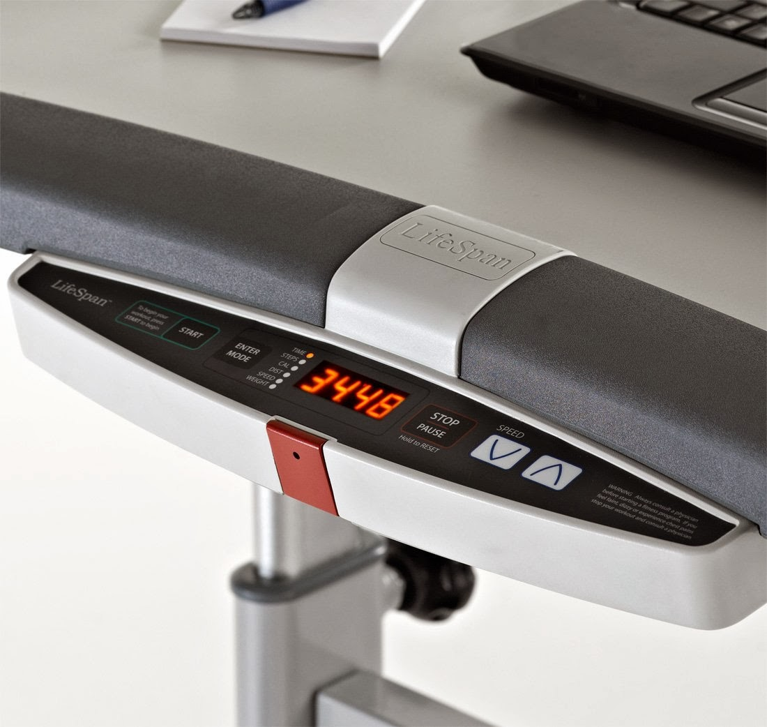 LifeSpan TR1200-DT5 Treadmill Desk, integrated console display, large arm rests