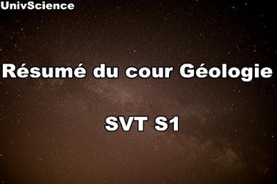 Résumé du cour Géologie Générale SVT S1