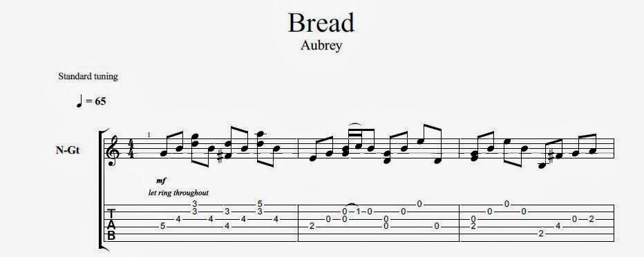 How to play bread aubrey (intro only) youtube.