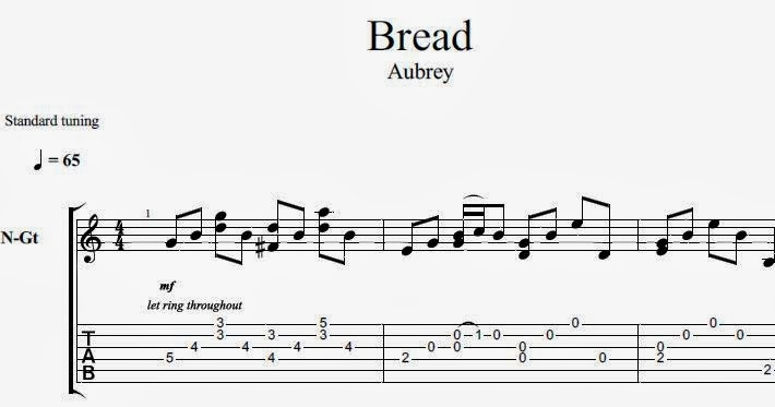 how to play aubrey by bread on guitar