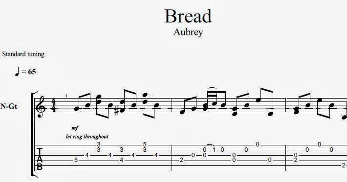 Bread aubrey guitar tab youtube.