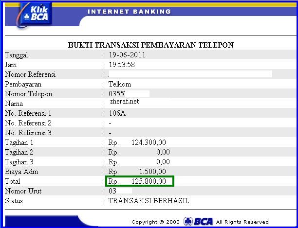 Bayar Speedy Lewat Internet Banking BCA | Trik Bisnis