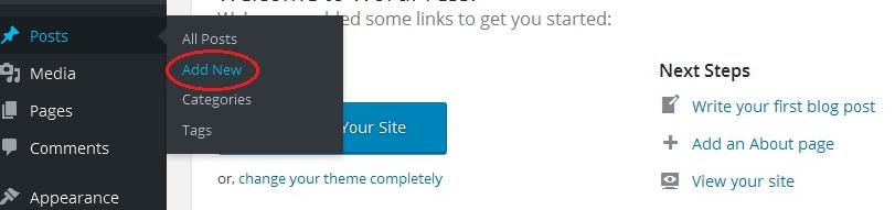 Membuat Postingan di Website Wordpress