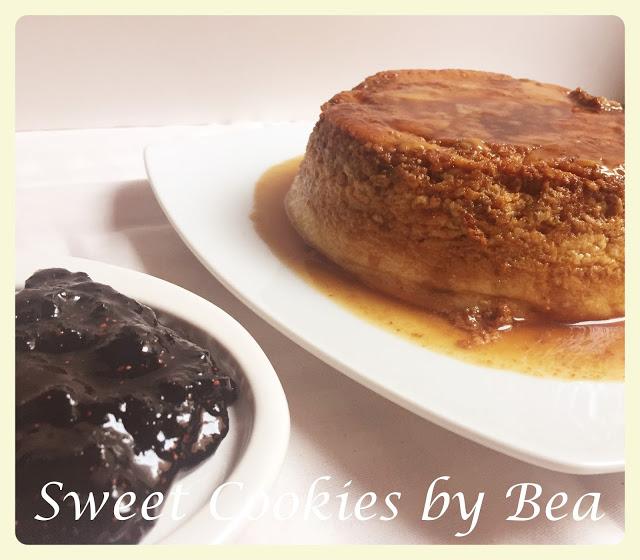quark-blueberry-pudding, flan-de-quark-y-arandanos
