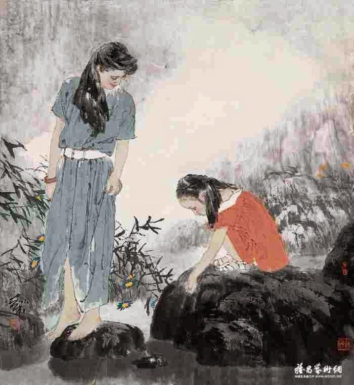 Традиционная китайская живопись. He Jiaying