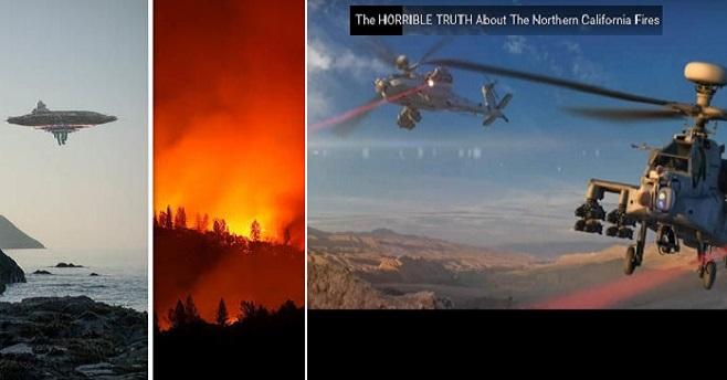 Σχετικά με την αιτία των πυρκαγιών στην Καλιφόρνια: Όπλα λέιζερ, συντριβή UFO και Illuminati