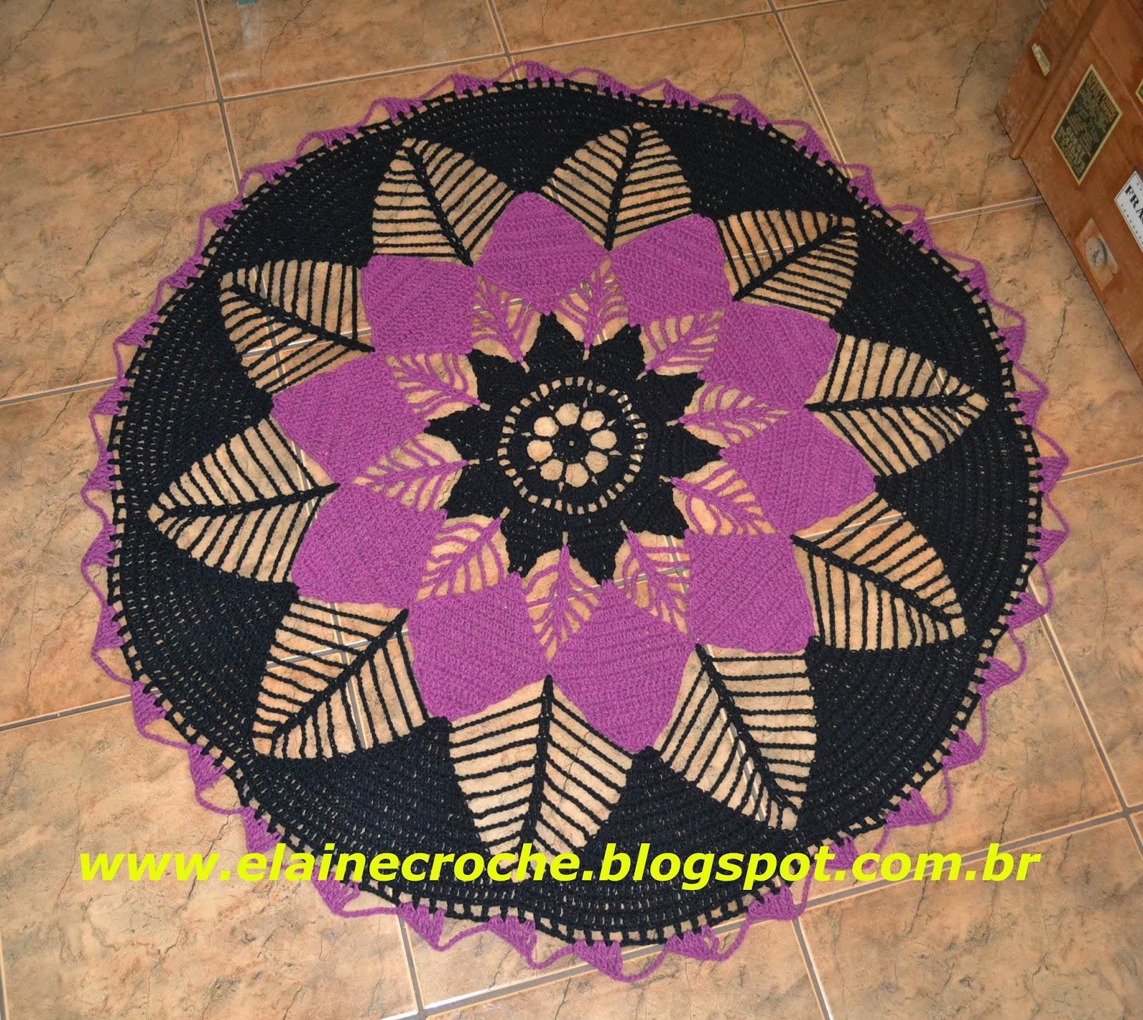 Elaine Croche Tapete Pet Nia Gigante Em Croch V Deo Aula Croch  -> Tapete Croche Grande