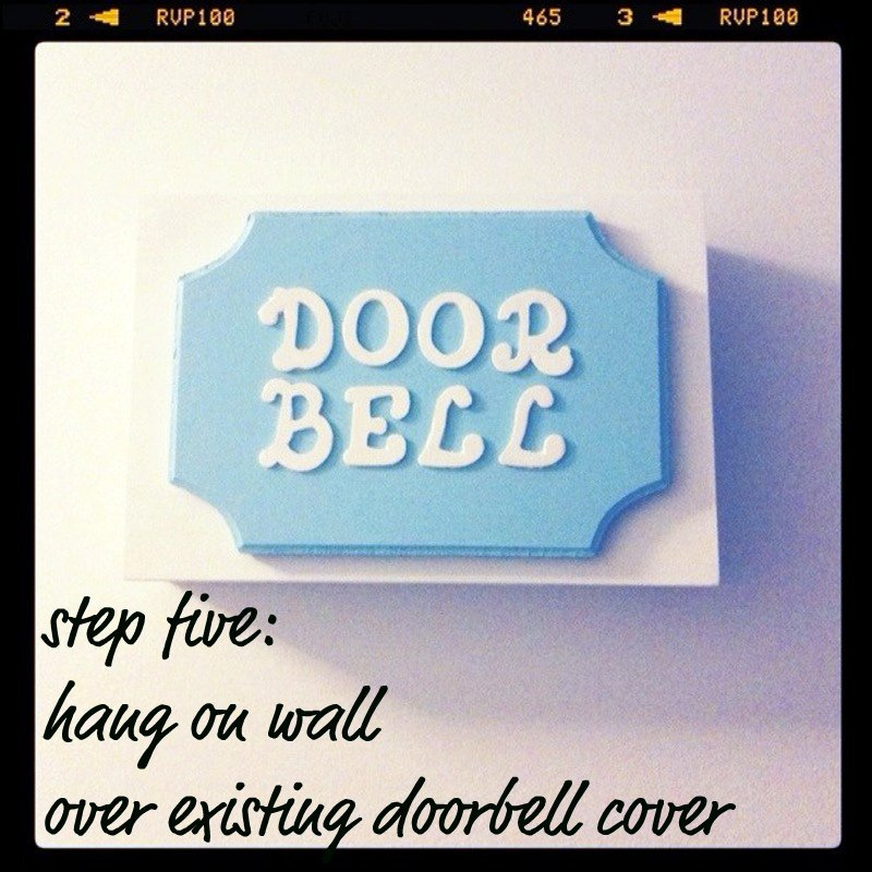 Letter Box Cover B Q: Small Town Chic: DIY Doorbell Cover
