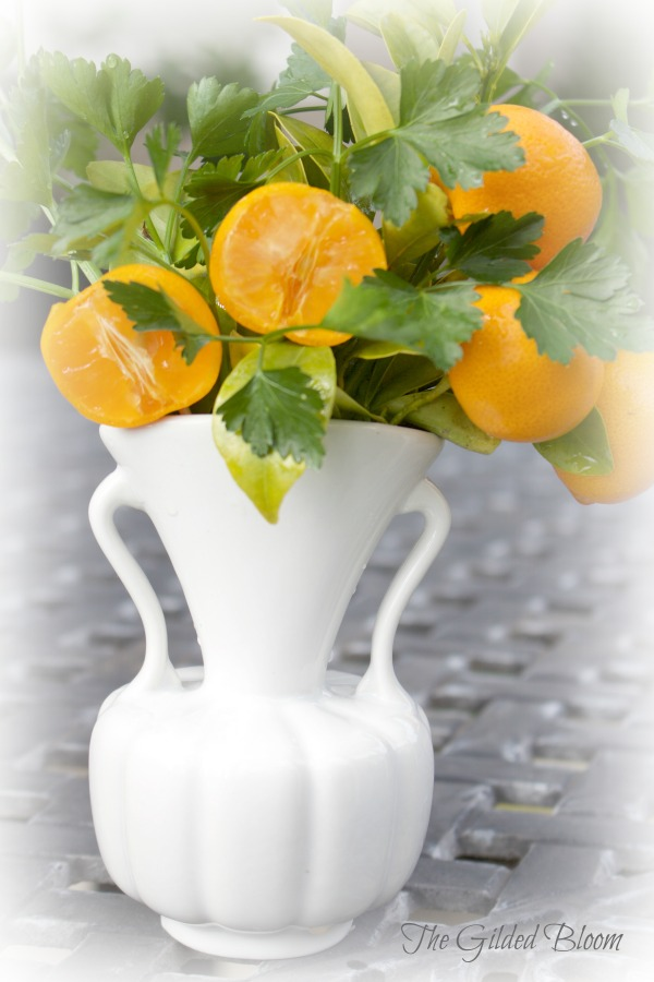 Citrus Bouquet- Harvesting the Winter Garden- www.gildedbloom.com #gardening