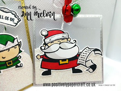 Ann Melvin Stampin' Up! Independent UK Demonstrator Signs of Santa tags