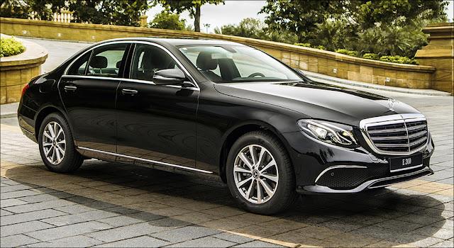 Đầu xe Mercedes E200 2019 facelift được thiết kế theo phong cách lịch lãm, sang trọng