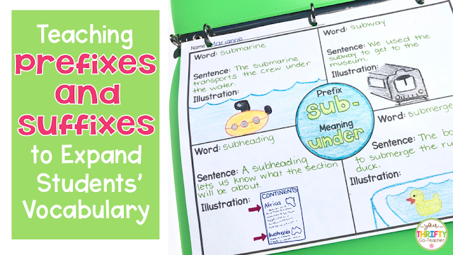 Teaching Prefixes and Suffixes to Expand Vocabulary