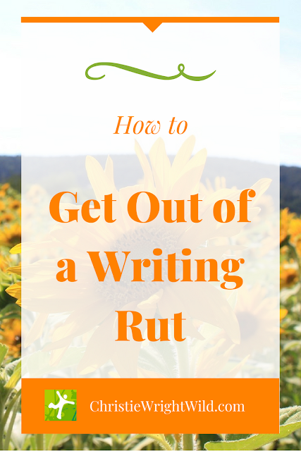 How to Get Out of a Writing Rut and Tap Into Your Muse || If you think you've hit a type of writer's block, just start writing. I'll tell you how. || ChristieWrightWild.com
