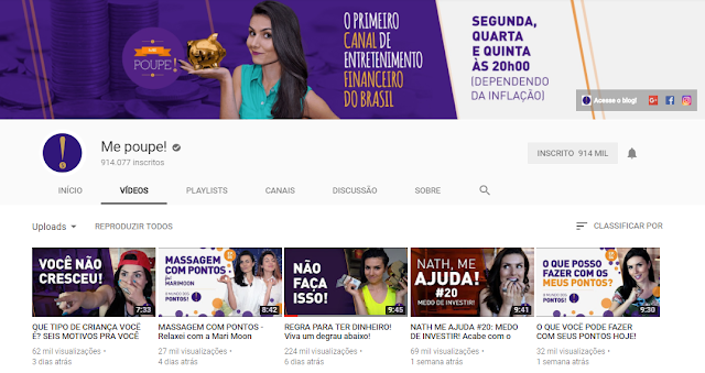 Canais no Youtube que ensinam sobre Vida Financeira