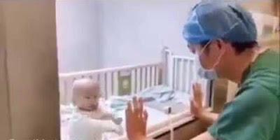 ڤیدیۆ.. دیمەنێکی تراژیدی منداڵێکی چینی کە تووشی ڤایرۆسی کۆرۆنا بووە