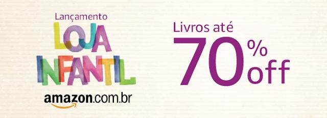 Banner de lançamento da loja infantil da Amazon.