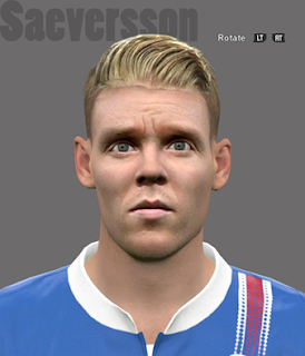 PES 2016 Saeversson (Iceland) Face by Brilyan