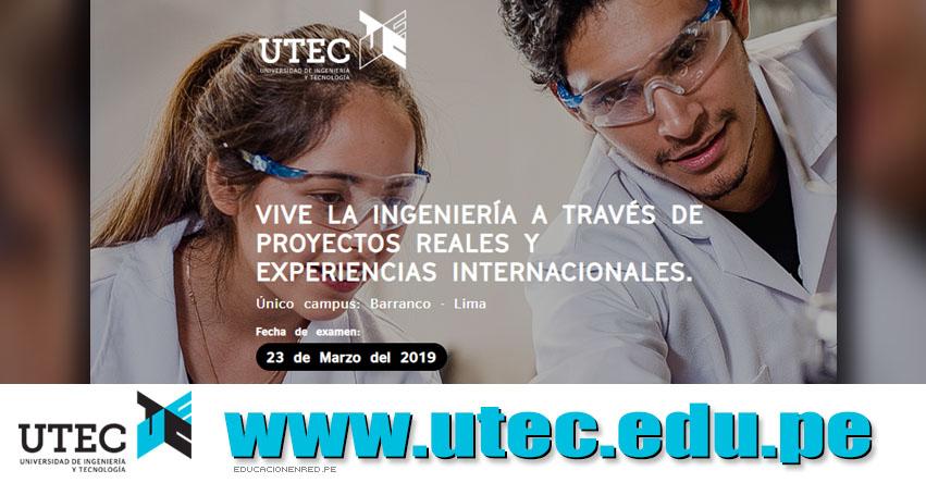 Resultados UTEC 2019 (23 Marzo) Lista de Ingresantes - Universidad de Ingeniería y Tecnología - www.utec.edu.pe