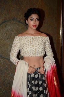 Shriya Saran in a lovely Crop top and Black Silky Skirt