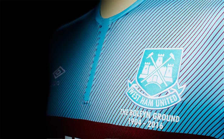 West Ham United s 2015-16 Away Kit mirrors the uniform worn between  1901-1903 8d34c2212