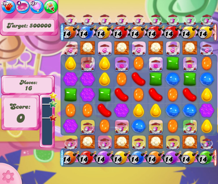 Candy Crush Saga level 2612