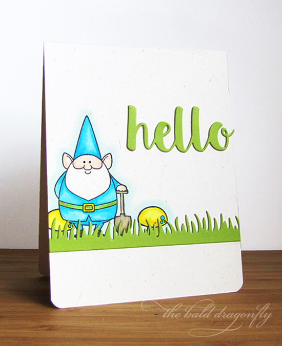 You Gnome Me stamp set and the Fresh Cut Grass and Hello There Die-namics - Karen Baker #mftstamps