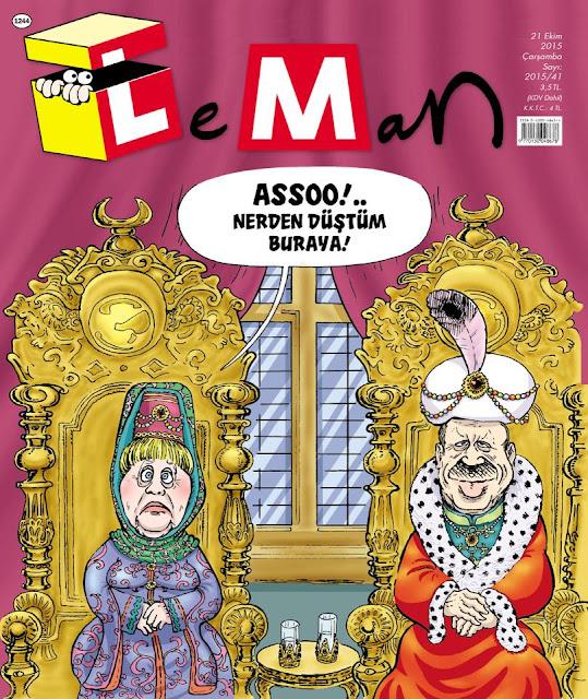 angela merkel tayyip erdoğan karikatür