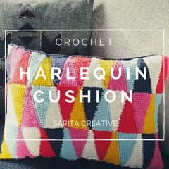 Tutorial Crochet Harlequin Cushion