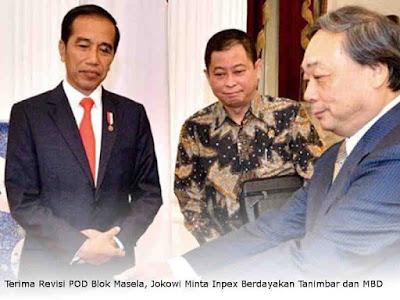 Terima Revisi POD Blok Masela, Jokowi Minta Inpex Berdayakan Tanimbar dan MBD
