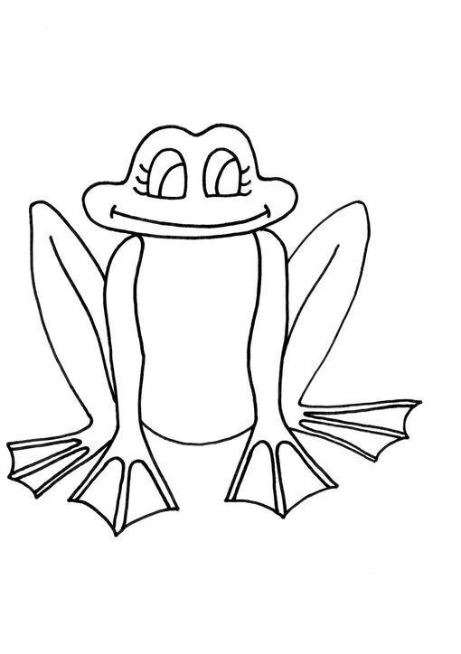 Dibujos de ranas infantiles para colorear - Imagui
