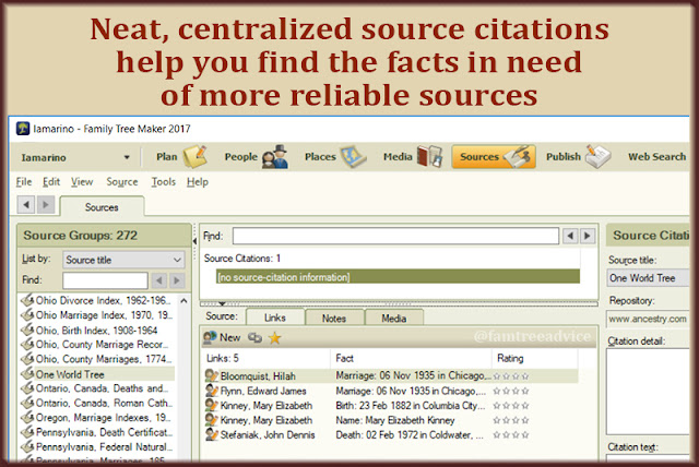 Having a neat, tight list of sources makes them easy to maintain and make better.