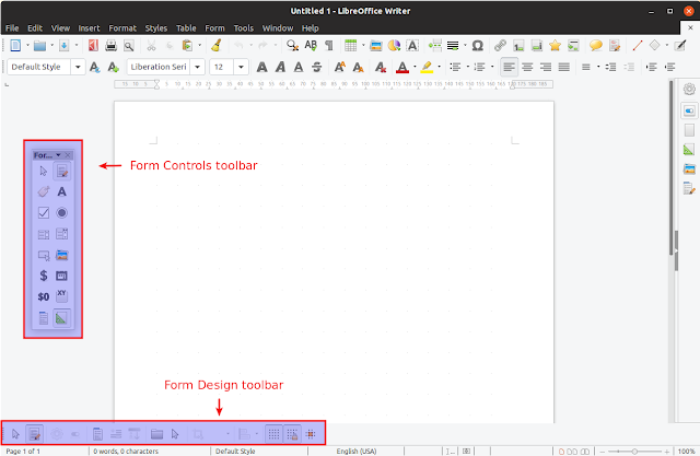 LibreOffice form controls