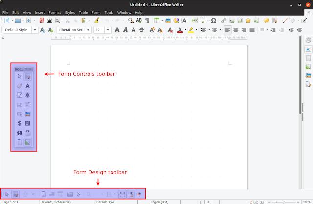 LibreOffice form controls