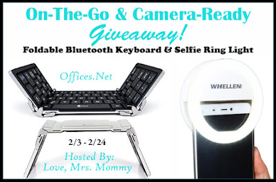 Enter the On-The-Go & Camera-Ready Tech Giveaway. Ends 2/24