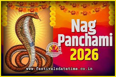 2026 Nag Panchami Pooja Date and Time, 2026 Nag Panchami Calendar