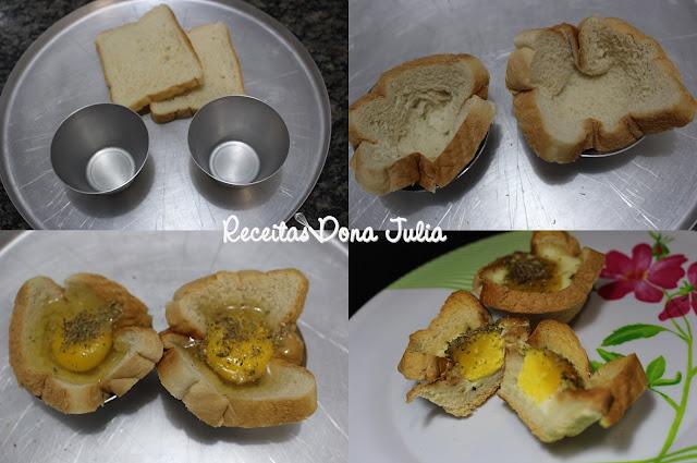 """""""Cestinha de pão com ovo"""""""