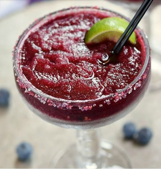 Frozen Blueberry Margaritas