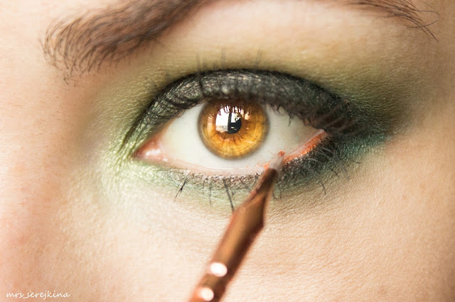 Green smoky eyes: step 10