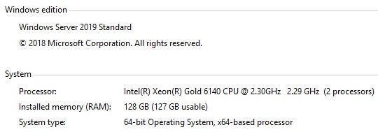 Servidores Sawtooth com Xeon Scalable 6140