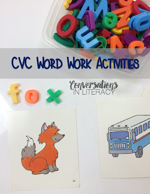 cvc word work activities