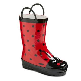 Ladybug rain boots