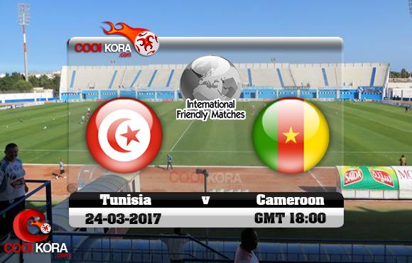 مشاهدة مباراة تونس والكاميرون اليوم 24-3-2017 مباراة ودية