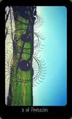 Three of Pentacles tarot card image