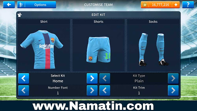 Baju Dream League Soccer Barcelona