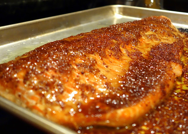 Fresh Local And Best Salmon With Brown Sugar And Mustard